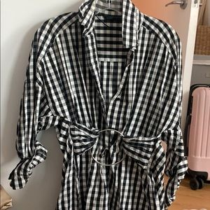Zara collared shirt, long wi checkers